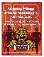 Nick Wilson 5K Run/Walk is July 11