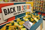 Sales tax holiday on school supplies