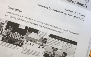 NRMS teacher Adam Moler lesson adaptation is included in the book that inspired it.