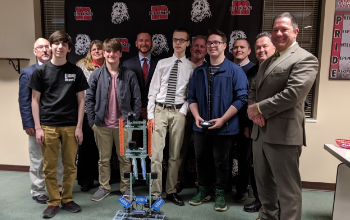 The history-making NRHS Robotics Team was recognized Feb. 18 by the Board of Education after becoming the first Robotics Team to represent NRHS in a robotics competition.