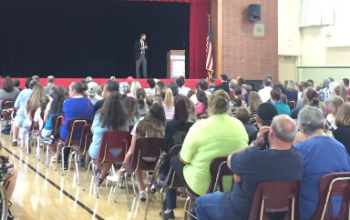 Sixth-grade open house was well attended.