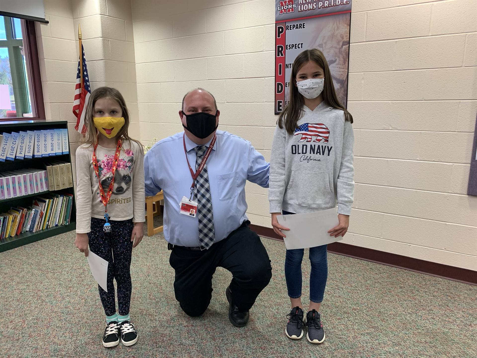October students of the month with principal