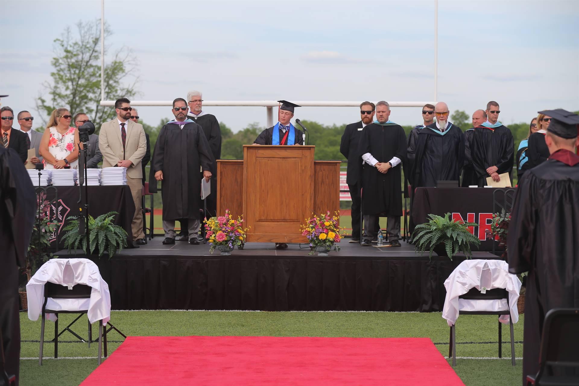 Graduation 2021 stage