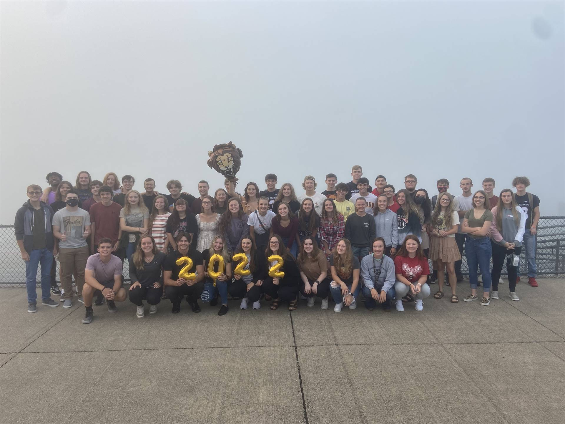 Senior Sunrise Celebration for class of 2022 which is pictured here