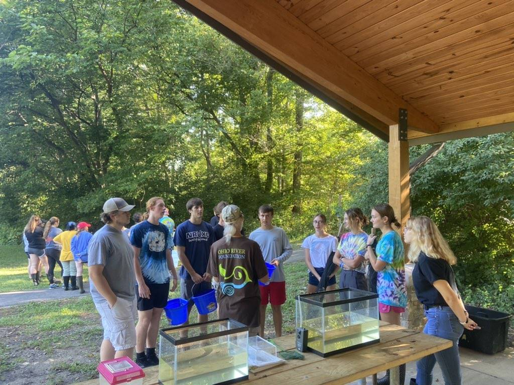 Outdoor science lessons at shelter