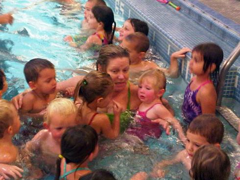 Hazel Davis Swimming